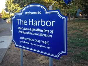 Portland-Rescue-Mission-The-Harbor-Welcome-Sign