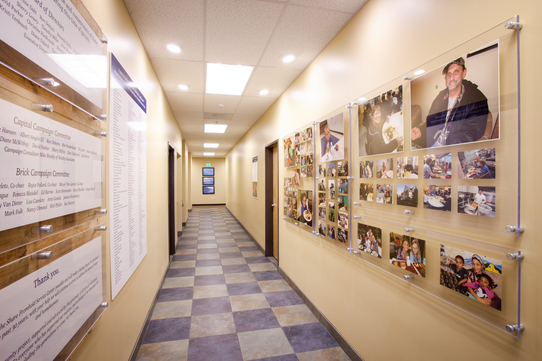 Share Fromhold Service Center - Donor and Guest Recognition Hallway Displays